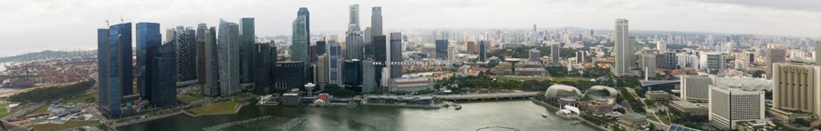 Singapore panoramic view 3