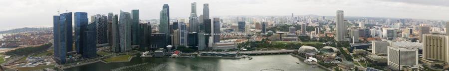 Singapore panoramic view 3